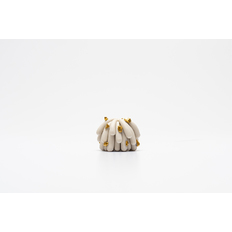 Linda Lopez Tinniest Porcelain Dust Furry with gold rocks