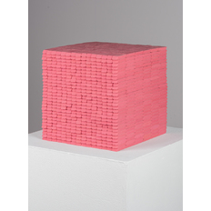Joel Swanson How Many Pink Pearl Erasers would it Take to Create a Perfect Cube?