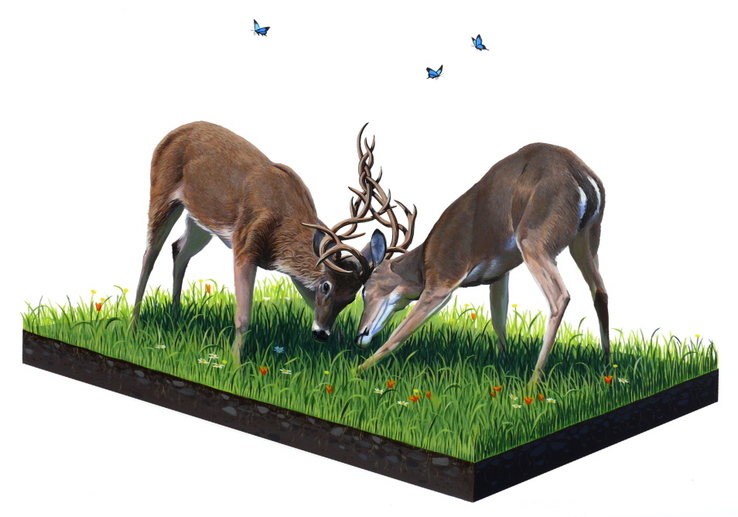 Josh Keyes - Weaving